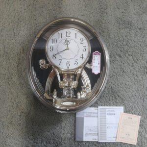 掛け時計 ハミングロード735 4HM735-008 時計 回転飾り付き メロディ CITIZEN 飾り時計