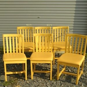 木製 イス 6脚セット まとめ売り 椅子 カウンターチェア 店舗用品 業務用 寿司