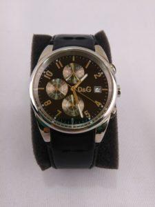 D&G ドルチェ&ガッパーナ 腕時計 クロノグラフ レザーベルト 革