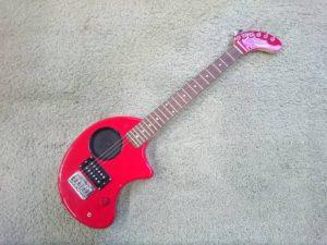 Fernandes フェルナンデス ZO-3 レッド アンプ内蔵 ギター エレキギター トラベルギター
