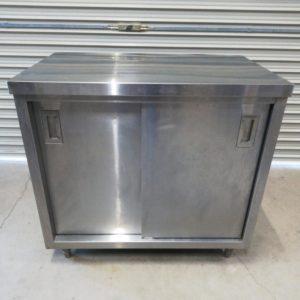 ステンレス棚台 食器棚 吊り下げ式引き戸 業務用 厨房機器 作業台
