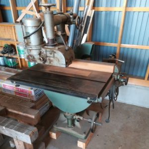 三里鋳造工業所 テーブルノコギリ 昇降盤 送り機付き MA-400 大工道具 大工 大工機械