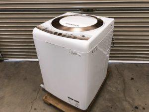 SHARPのES-T805の全自動洗濯機8キロ用