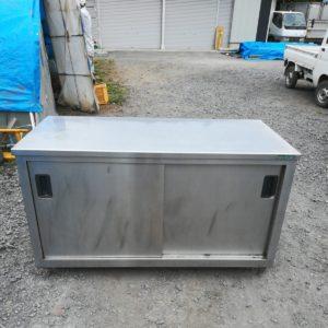 タニコー ステンレス作業棚 作業台 戸棚 業務用 引き出し付き W1500×D750×H850mm