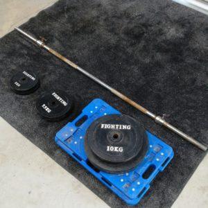 ファイティングロード バーベルセット 15㎏×2 10㎏×2 7.5㎏×2 5㎏×2 合計84㎏ 筋トレ トレーニング