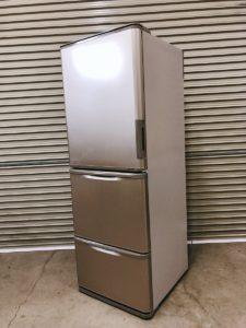 シャープのノンフロン冷凍冷蔵庫 SJ-W352B-N 350L  どっちもドア