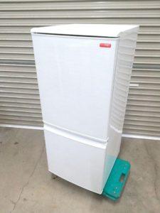 シャープのノンフロン冷凍冷蔵庫 SJ-C14X-W