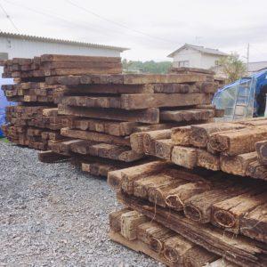 枕木 まくら木 資材 買取いたします