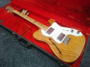 Fender TELECASTER THINLINE テレキャスター シンライン 1976年製エレキギター ビンテージ ハードケース付き 買取いたします  茨城 出張リサイクルショップ24時 水戸
