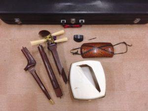 那珂市にて太棹で綾杉胴の三味線を出張買取いたしました