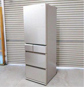 つくばにてパナソニックのノンフロン冷凍冷蔵庫NR-E412PV-N形を出張買取いたしました