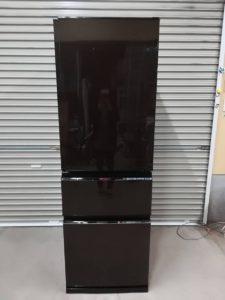 つくばにて三菱のノンフロン冷凍冷蔵庫 MR-CX37D-BRの19年製を出張買取いたしました