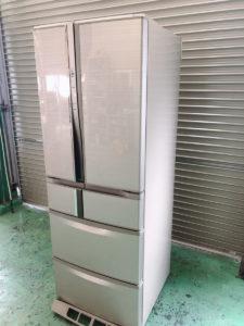 いわきにて2013年製の三菱観音開き6ドア冷蔵庫MR-R47X-Fの出張買取をいたしました
