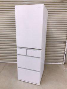 ひたちなか市にてパナソニックの2020年製5ドア冷蔵庫NR-E455PX-Wを出張買取いたしました