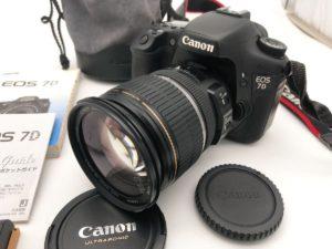 城里にてCanonのカメラのEOS7Dとレンズを出張買取いたしました