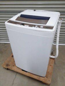 水戸にてアクアの全自動電気洗濯機のAQW-KS70Dを出張買取いたしました